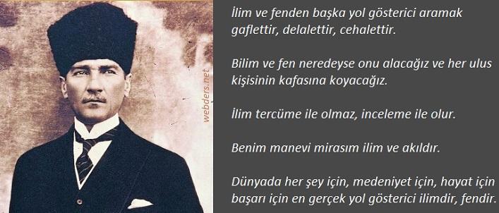 Atatürkün Bilime Verdiği önem Webdersnet