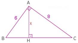 dik üçgende alan sorusu