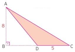 geniş açılı üçgende alan