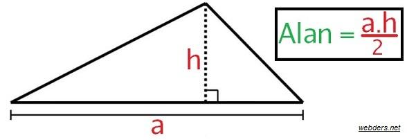 üçgenin alanı nasıl bulunur